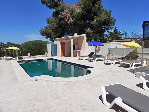 Ferienhaus Cala Figuera Pool