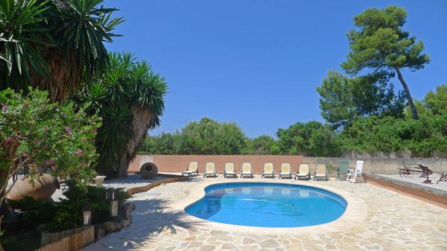 Ferienhaus Cala Mesquida Pool