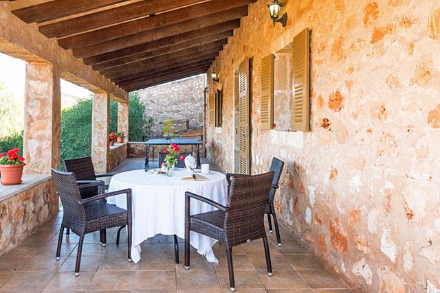 Finca Campos / Santanyi überdachte Terrasse