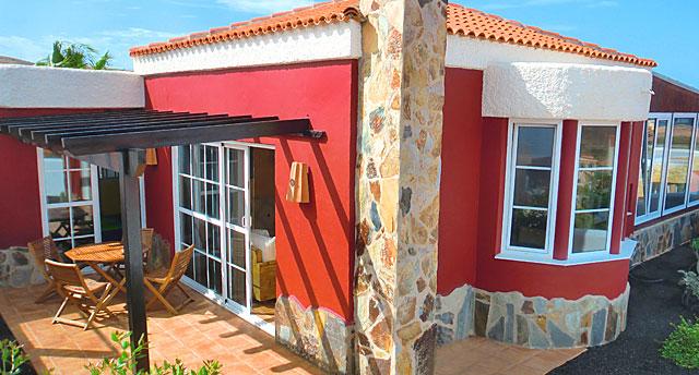 Ferienhaus La Pared Terrasse