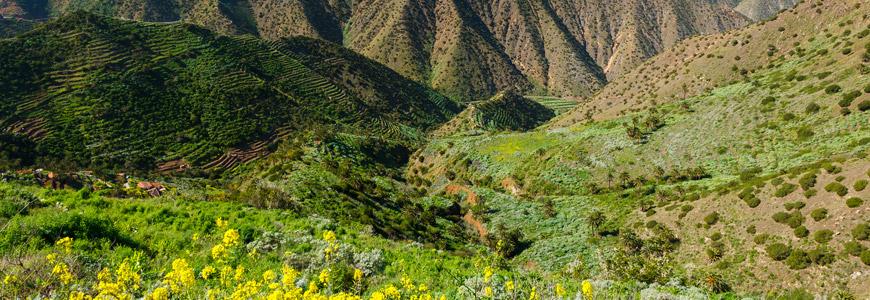 Landschaft bei Agulo auf La Gomera