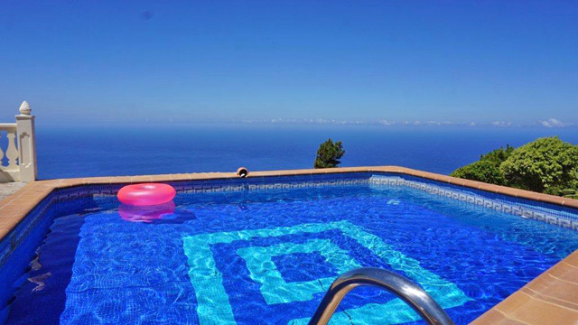 Ferienhaus Puntagorda Pool