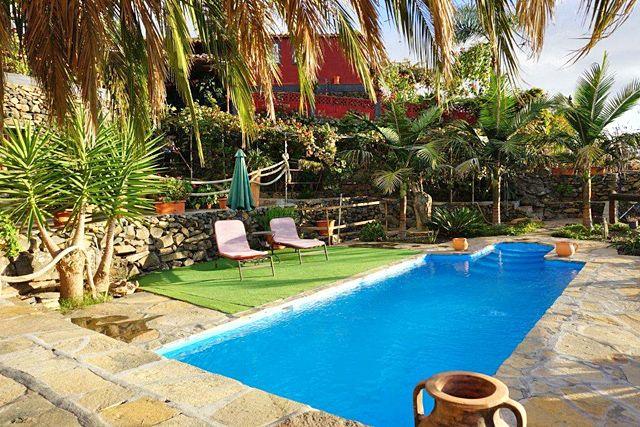 Ferienhaus Tijarafe Pool