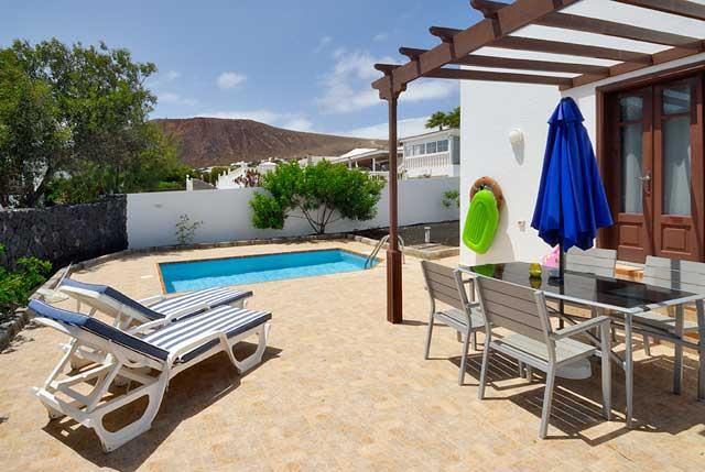 Ferienhaus Playa Blanca Terrasse
