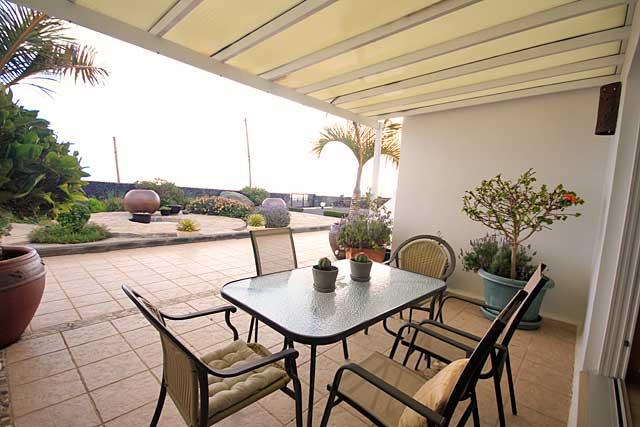 Appartement Tias Terrassenansicht