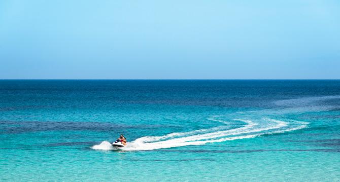 Jetski im Meer bei Mallorca