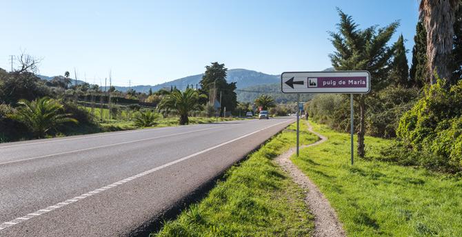 Wegweiser Puig de Maria