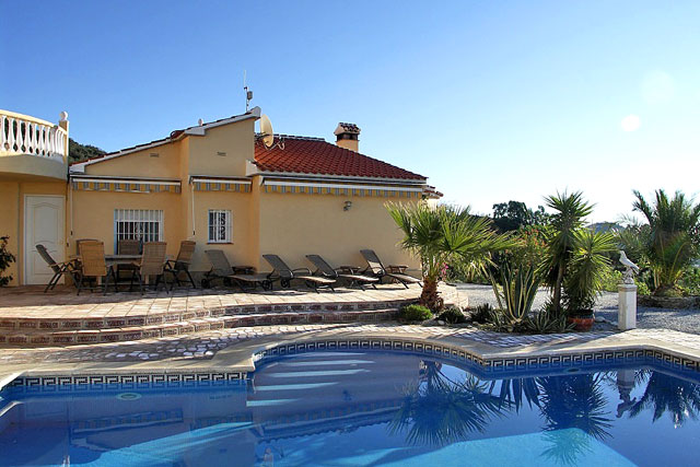 Finca Andalusien Poolterrasse
